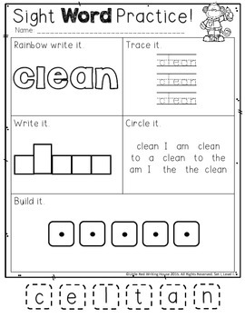 High Frequency Words {3rd Grade, Pack 1 of 2}