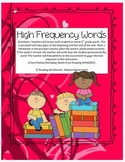 McGraw Hill Wonders High Frequency Words 3rd grade