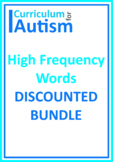 High Frequency Words BUNDLE Autism Special Education (Set 1)