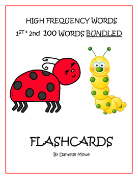 High Frequency Words BUNDLED - 1st & 2nd 100 Words