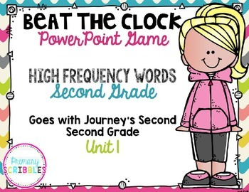 High-Frequency Words Beat the Clock PowerPoint Game {Journey's Grade 2 Unit 1}