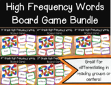 High Frequency Words Board Game Bundle