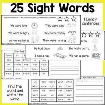 Sight Word Books Set 2