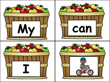 """High Frequency Words Center for """"I can ___."""""""