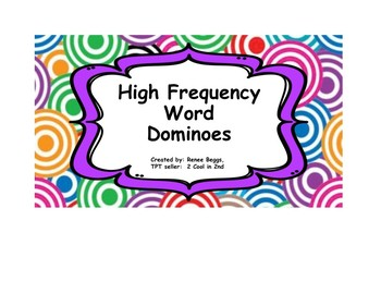 High Frequency Words - Dominoes
