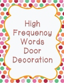 High Frequency Words Door Decoration