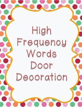 High Frequency Words Door Decoration