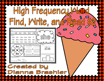High Frequency Words Find, Write, and Read #2