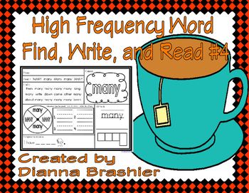 High Frequency Words Find, Write, and Read #4