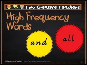 High Frequency Words First 100