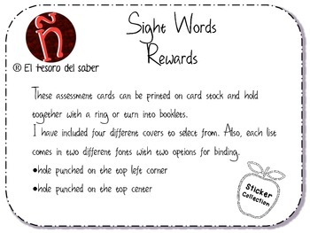 Sight Words for First Grade - HFW & Sight Words Rewards