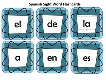 Spanish & English Sight Words - First Grade (Set A)