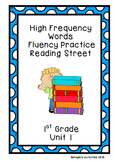 High Frequency Words Fluency Practice (Reading Street Unit
