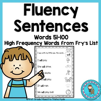 Sight Word Fluency Sentences Fry's Words 51-100