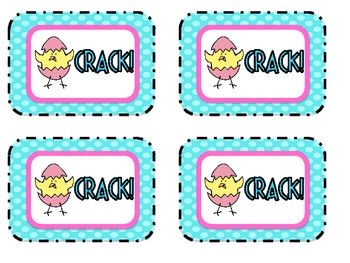 """High Frequency Words Game """"CRACK!"""" Dolch 3rd Grade  Words"""