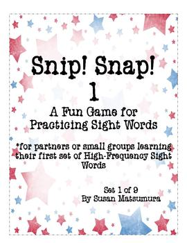 High-Frequency Words Game: Snip! Snap! 1