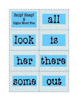 High-Frequency Words Game: Snip! Snap! 2