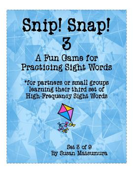 High-Frequency Words Game: Snip! Snap! 3