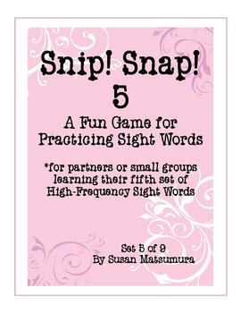 High-Frequency Words Game: Snip! Snap! 5