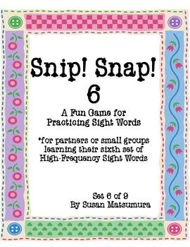 High-Frequency Words Game: Snip! Snap! 6