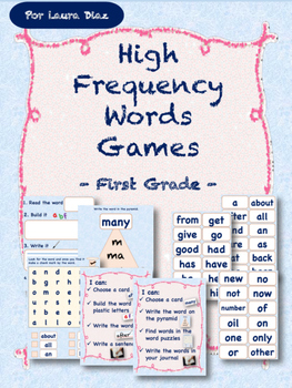 High Frequency Words Games- Workstation Activities