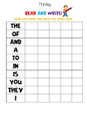 High Frequency Words Homework Bundle