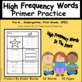 High Frequency Words In The Stars - Primer-Word Practice