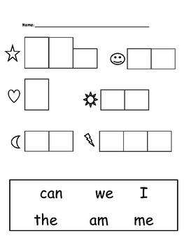 High Frequency Words - Kindergarten
