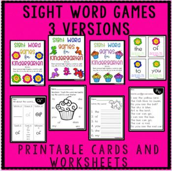 High Frequency Words Kindergarten - NO PREP!