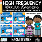 High-Frequency Words Lessons: The Bundle
