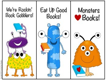 High Frequency Words Bookmarks: Monster Theme