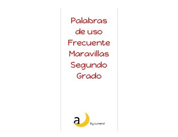 High Frequency Words Maravillas/Palabras de uso frecuente Maravillas 2do Grado