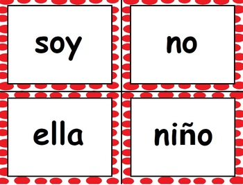 High Frequency Words - Palabras de Uso Frecuente - English & Spanish