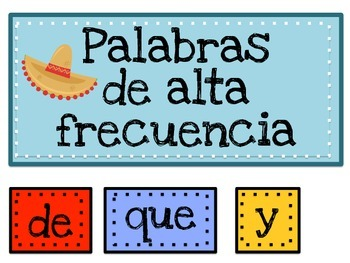 High Frequency Words- Palabras de alta frecuencia