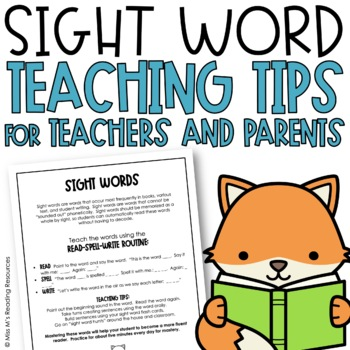 High-Frequency Words Parent Guide {Sight Words Practice}