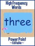 High Frequency Words Power Point - These Work!   Summer Beach Theme