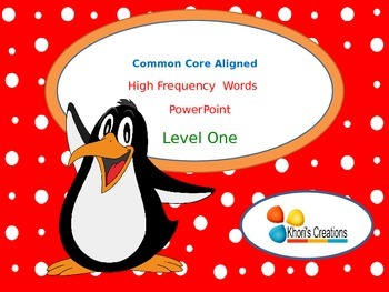High Frequency Words PowerPoint (Level 1)