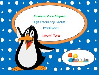 High Frequency Words PowerPoint (Level 2)