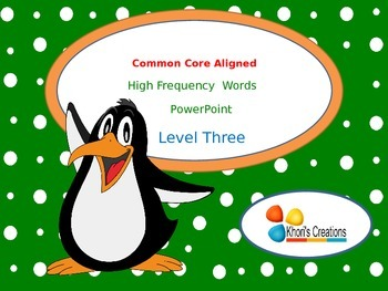 High Frequency Words PowerPoint (Level 3)