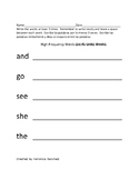 High Frequency Words Practice Packet