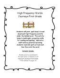 High Frequency Words Print, Spell, Read-Journeys First Grade