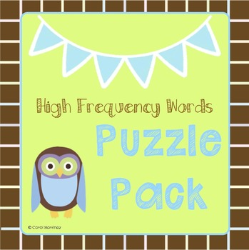 High Frequency Words Puzzle Pack {11 puzzles!}