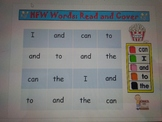 """High Frequency Words - Read and Cover - """"Popcorn"""" Theme **"""