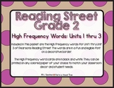 EDITABLE High Frequency Words- Reading Street- 2nd Grade-