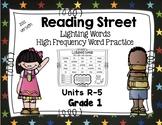 High Frequency Words - Reading Street - Lightning Words- Grade 1