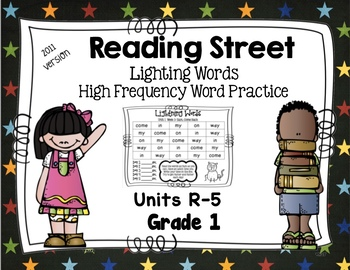 High Frequency Words - Reading Street - Lightning Words- Grade 1