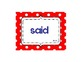 High Frequency Words Reading Street Unit 2