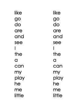 High Frequency Words - Red Words