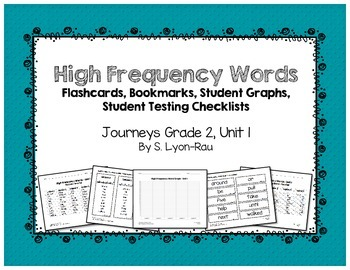High Frequency Words Resources - Journeys, Grade 2, Unit 1