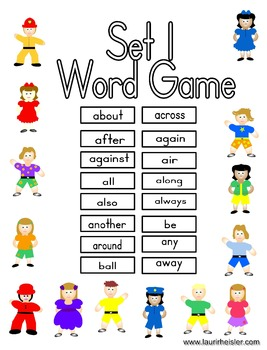 High Frequency Words Set 1